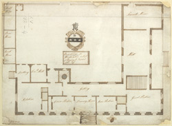 Architectural plan of Wormbridge in Herefordshire, the seat of Edward Chee